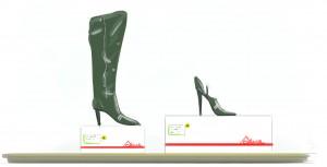 Verkeerde schoen in de doos