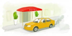 49-taxi-voor-hotel